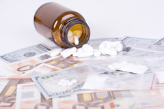 Drugs and money Stock Photos