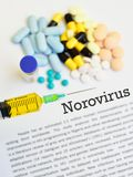 Drugs for Norovirus treatment. Syringe with drugs for Norovirus treatment Stock Photos