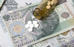 Free Drugs On A Money Background. Royalty Free Stock Images - 7575389