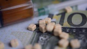 Drugs pellets EUR money