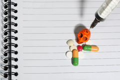 Drugs pills skull Royalty Free Stock Photo