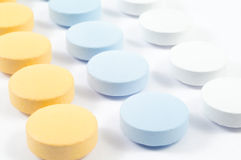 Drugs and pills on white Stock Photography