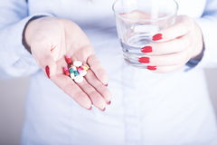 Drugs for the prevention of diseases Royalty Free Stock Photos