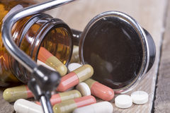 Drugs for the prevention of diseases Royalty Free Stock Photo