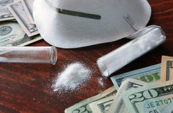 Drugs produce and sales concept. Stock Images