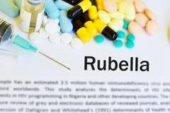 Drugs for rubella virus treatment royalty free stock photos