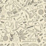Drugs seamless retro vector illustration Royalty Free Stock Photos