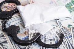 Drugs and substances prohibited - arrest criminals Stock Photography