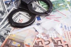 Drugs and substances prohibited - arrest criminals Royalty Free Stock Image