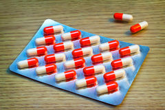 Drugs: tablets and capsules. Stock Photography