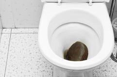 Drugs In Toilet Stock Photo