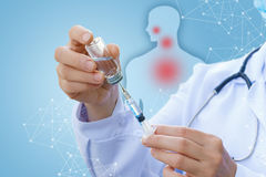 Drugs for vaccination of the patient. Drugs for injection or vaccination of the patient royalty free stock image