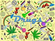 Drugs vector illustration Stock Images
