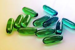 Drugs or vitamins. Some drugs, vitamins or microbe Royalty Free Stock Photo