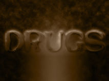 Drugs word Stock Photo