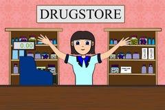 Drugstore royalty free illustration