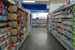 Drugstore Aisle Royalty Free Stock Images