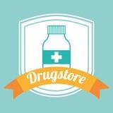 Drugstore bottle Stock Photography