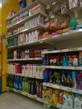 Drugstore shelves Stock Photo