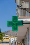Drugstore sign in green Stock Photo