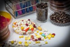 Drugtest in laboratorium Royalty-vrije Stock Foto