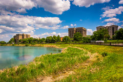 Druid Lake, at Druid Hill Park in Baltimore, Maryland. Stock Images
