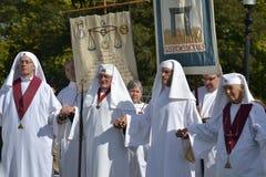 Druid Leaders, closing ceremony, autum equinox 2 royalty free stock photos