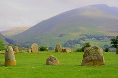 Druid's Circle. Castlerigg ancient stone circle in the English Lake District Royalty Free Stock Photos