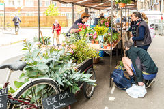Druid Street market in Bermondsey Stock Photos