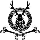 Druid symbol with antlers Royalty Free Stock Images