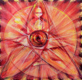 Druid Triquetra Meditation Painting Stock Images