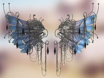 Druid wings (light blue) Royalty Free Stock Photography