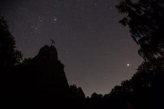 Druidenstein kamienni pobliscy kirchen Germany przy nocą Fotografia Royalty Free