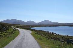 druidibeag海湾自然保护南uist 免版税库存照片
