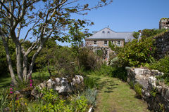 Druidstone Hotel. The Druidstone Hotel and it's gardens on a sunny day stock photo