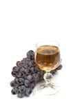 Druif en wijnglas royalty-vrije stock fotografie