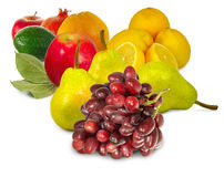 Druif, peer, Apple, citroenen royalty-vrije stock fotografie