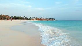 Druifstrand bij het eiland van Aruba Royalty-vrije Stock Foto's
