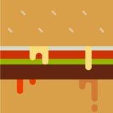 Druipende verfhamburger Stock Afbeelding