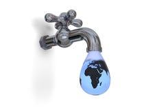 Druipende waterkraan Stock Afbeelding