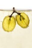 Druiven in champagne Stock Foto