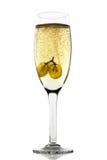 Druiven in champagne royalty-vrije stock foto's