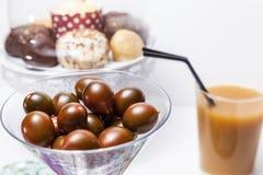 Druiven in een glas Stock Afbeeldingen