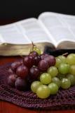 Druiven en de Bijbel Stock Foto