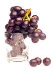 Druiven en glas Stock Foto