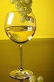 Druiven en glas wijn Royalty-vrije Stock Afbeeldingen