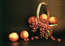Druiven en perziken Stock Foto
