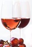 Druiven en wijn Royalty-vrije Stock Afbeeldingen