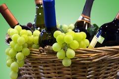 Druiven en wijn Stock Afbeelding