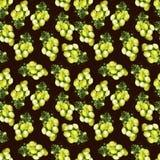 Druiven groen patroon stock afbeelding